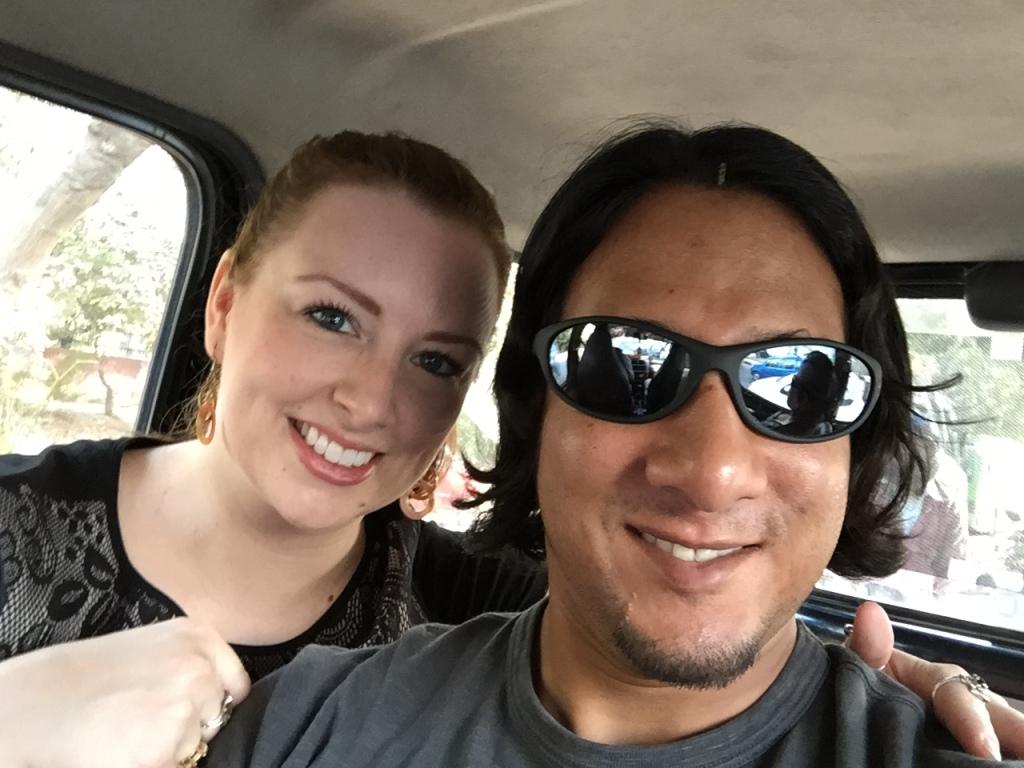 Cab selfie