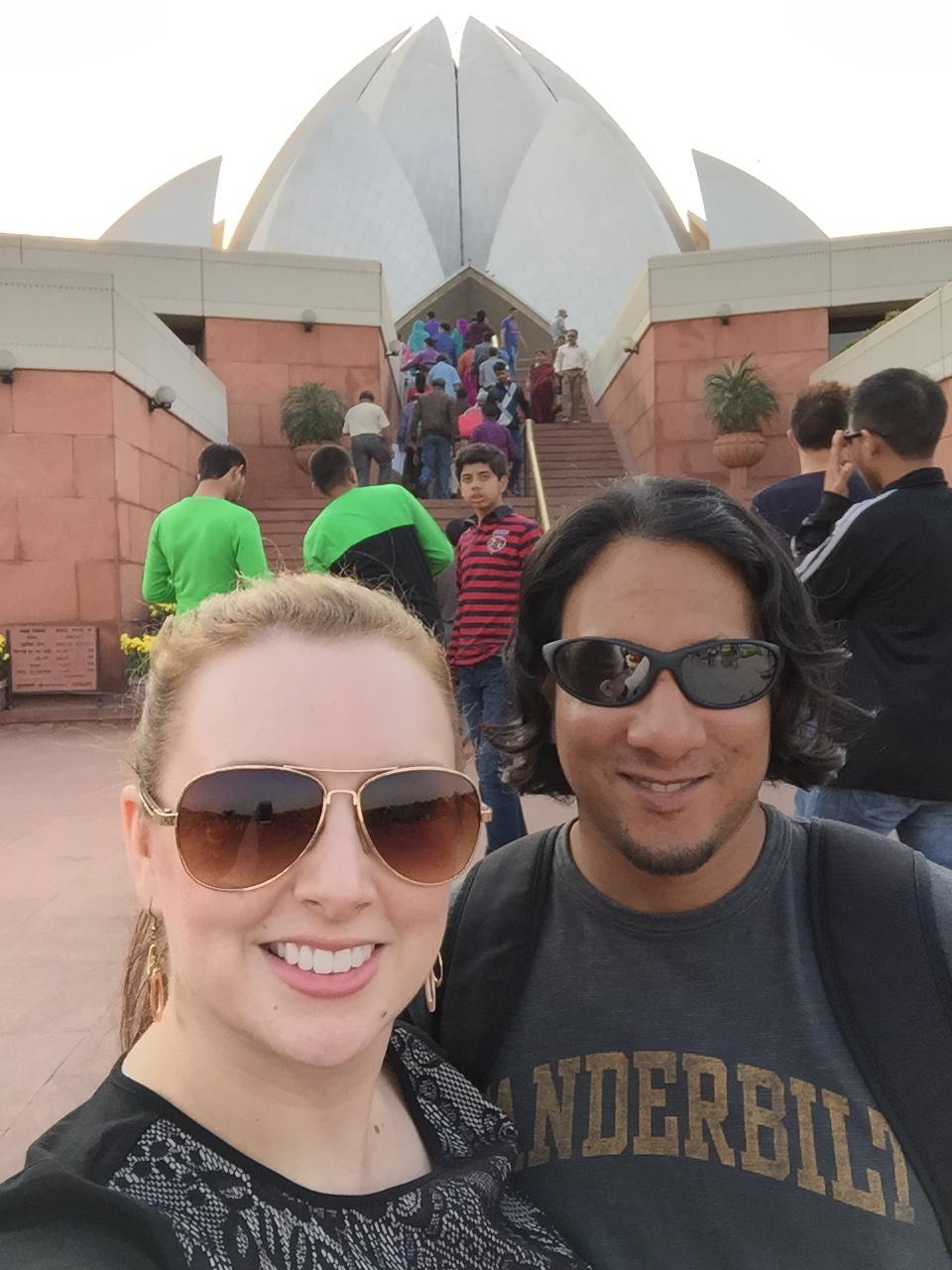 Lotus Temple selfie