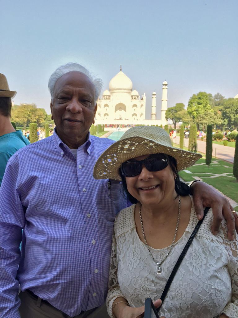 PK and Ana at the Taj Mahal