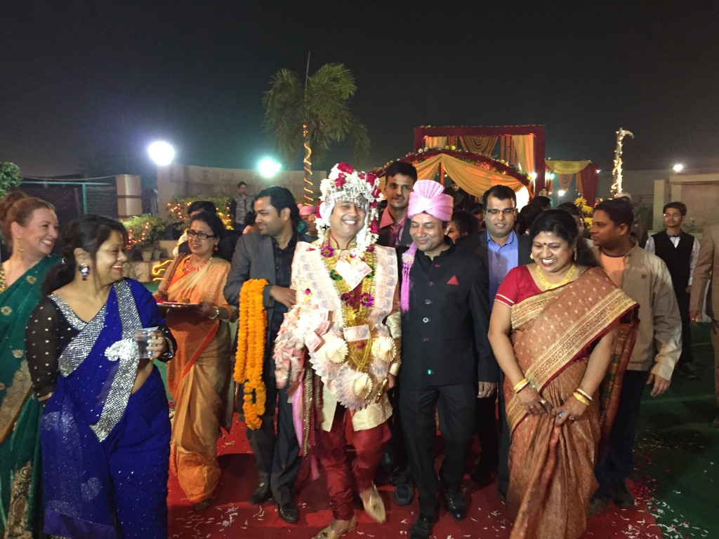 The groom's arrival