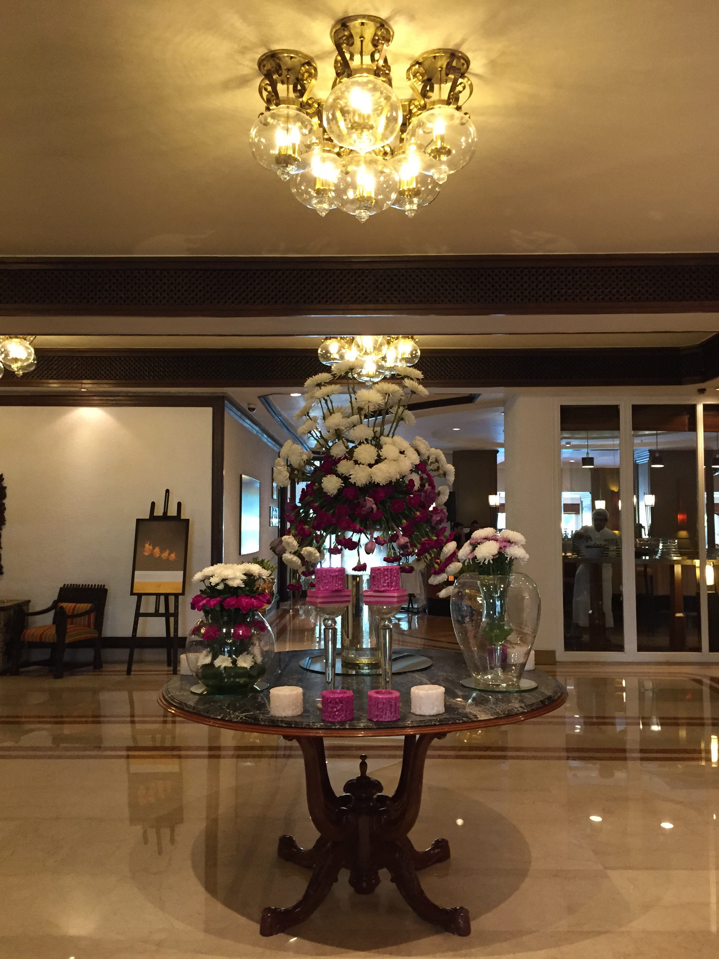 Gorgeous lobby flowers (that changed daily)