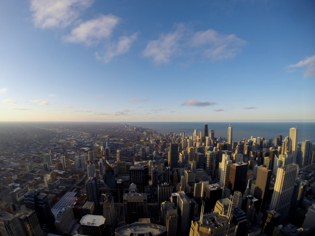 Northern view from Willis Tower, Chicago
