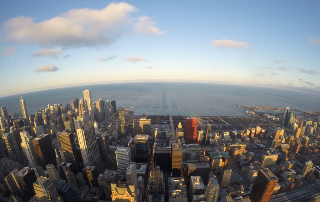 Eastern view of Chicago from Willis Tower Skydeck