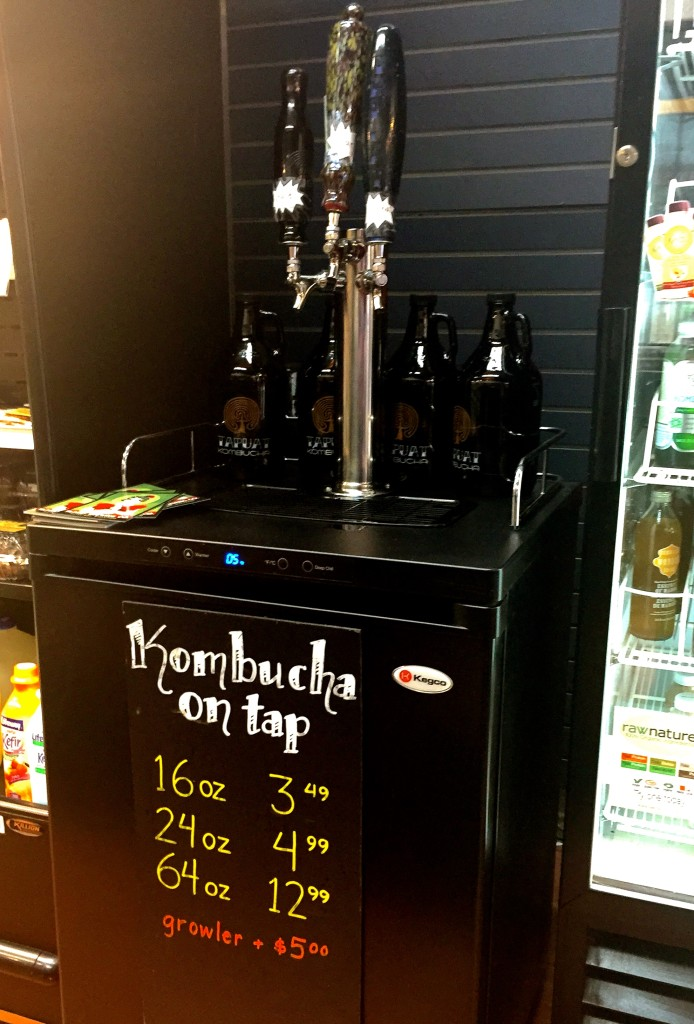Kombucha on Tap at Kramer's Health Foods, Chicago