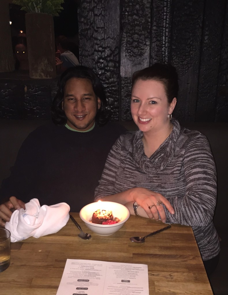 First of three anniversary dinners!