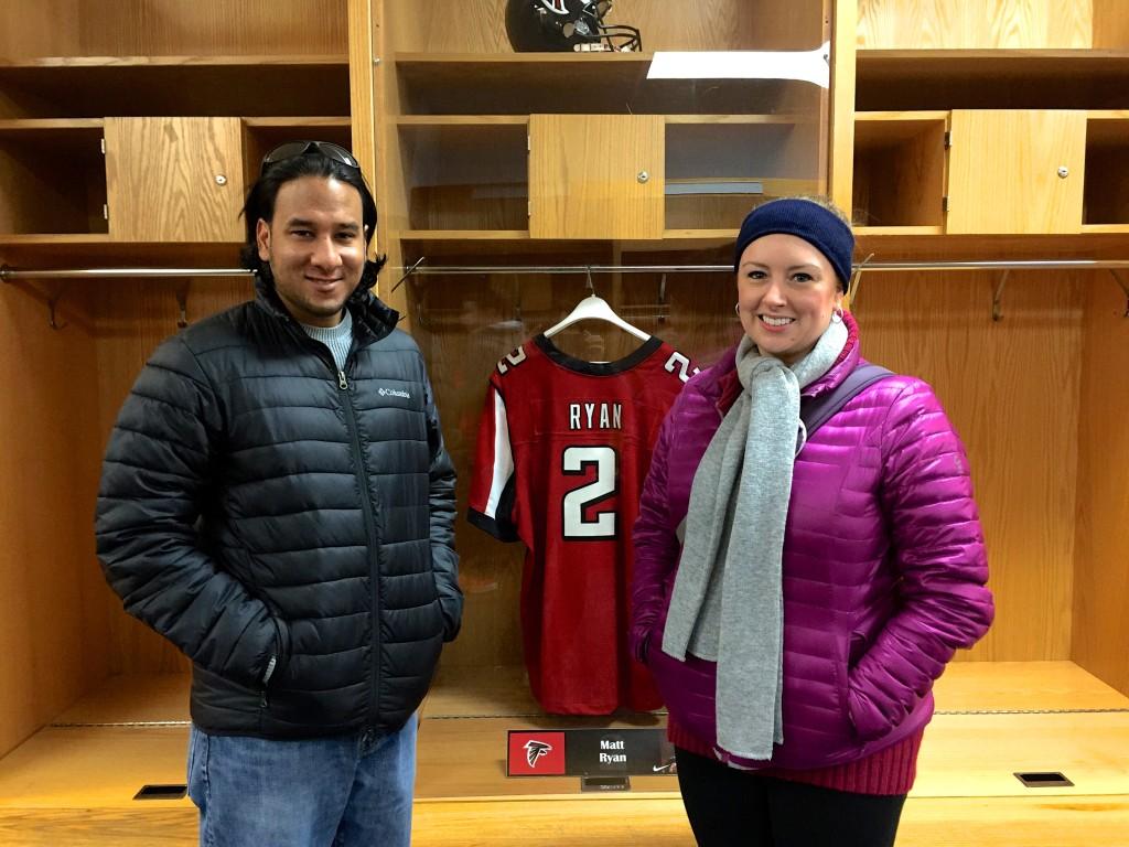 Matt Ryan jersey, Soldier Field locker room