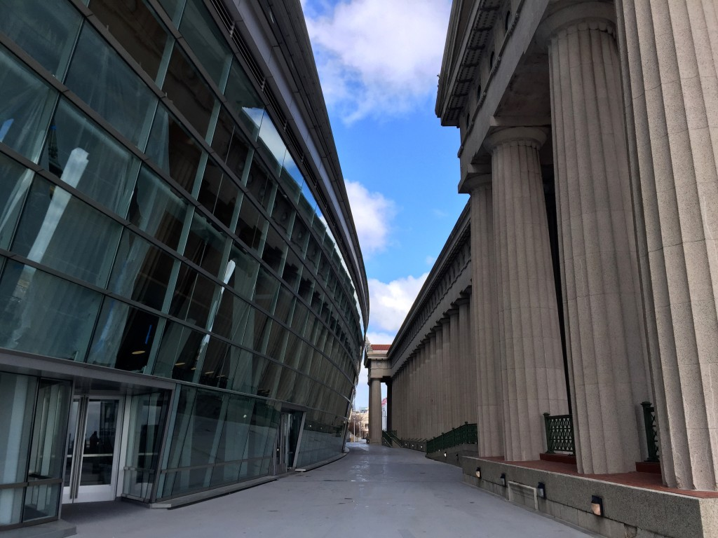 Old Meets New at Soldier Field