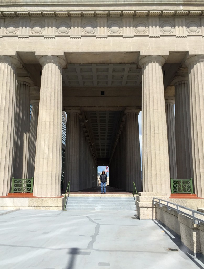 Original doric-style columns at Soldier Field