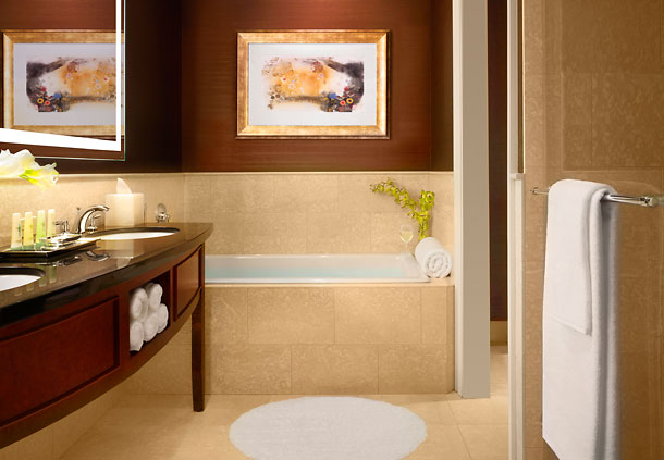 Bathroom at the J.W. Marriott Hotel, Chicago