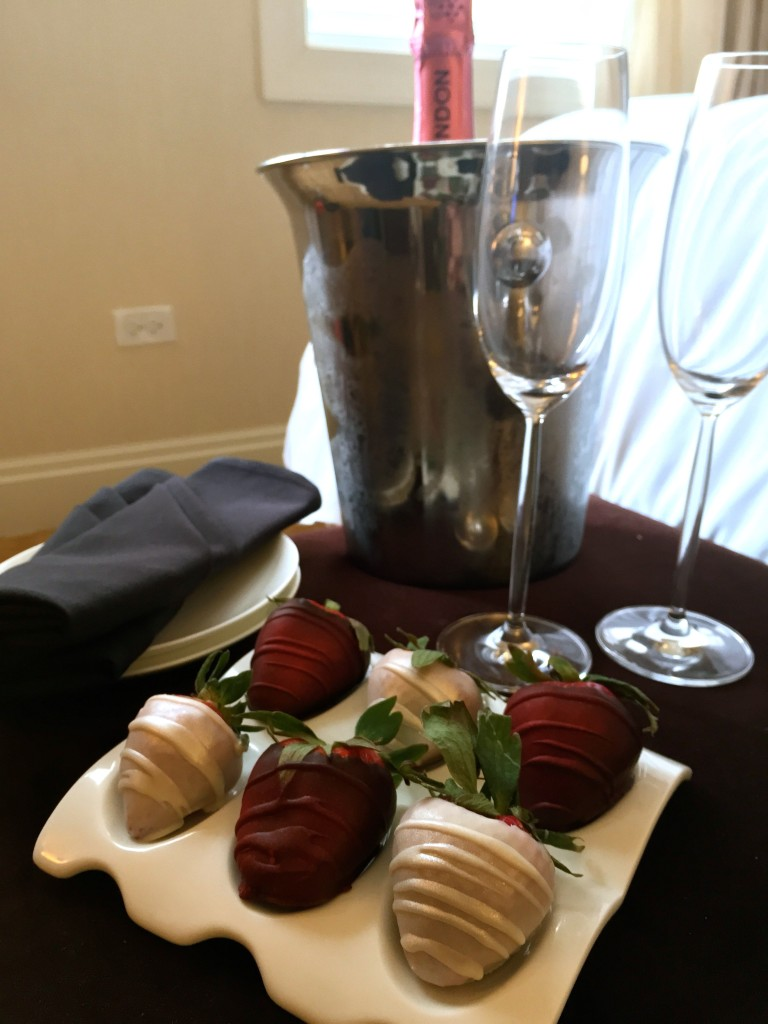Strawberries & Champagne, courtesy of Marriott