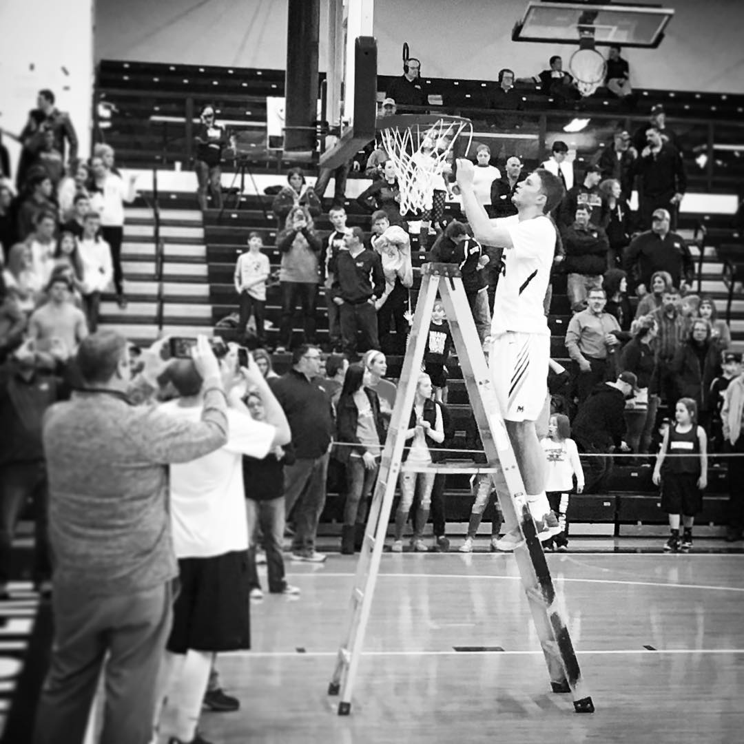 #35 cutting down the net