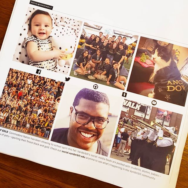My baby made the back cover of the Fall 2018 Vanderbilt Magazine! 😍